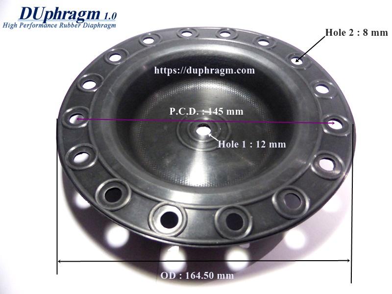 ยางไดอะแฟรม VITON เสริมผ้าใบ OD 164.50.JPG