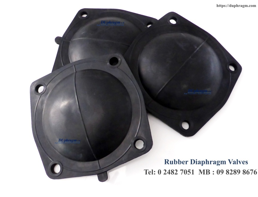 ยางไดอะแฟรม weir type diaphragm valves